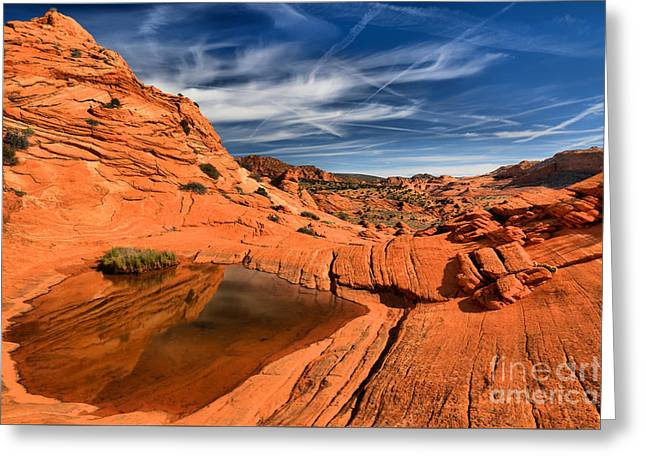 Coyote Buttes Wilderness Reflections Greeting Card