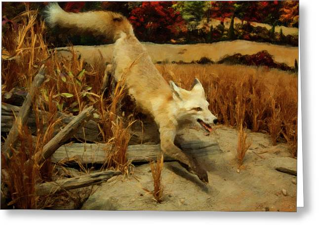 Greeting Card featuring the digital art Coyote  by Chris Flees