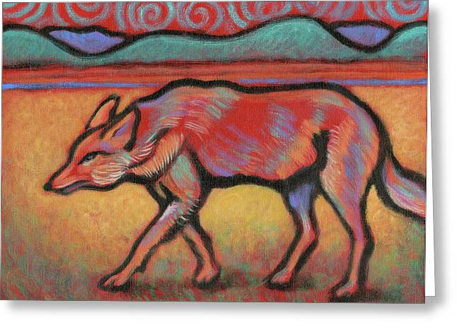 Coyote Totem Greeting Card