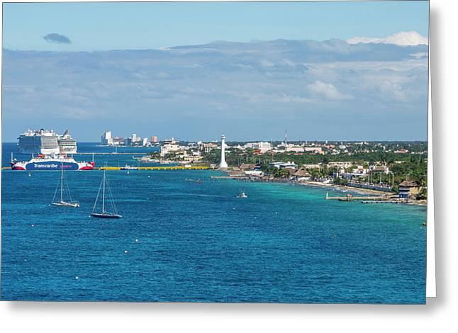 Cozumel Coastline Greeting Card