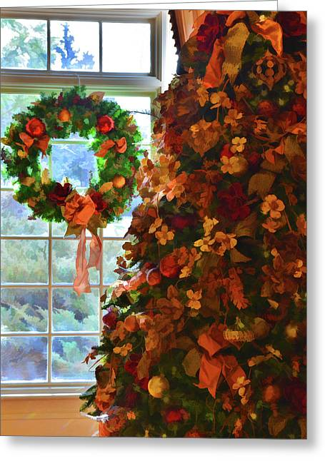 Greeting Card featuring the photograph Cozy Christmas by Diane Alexander