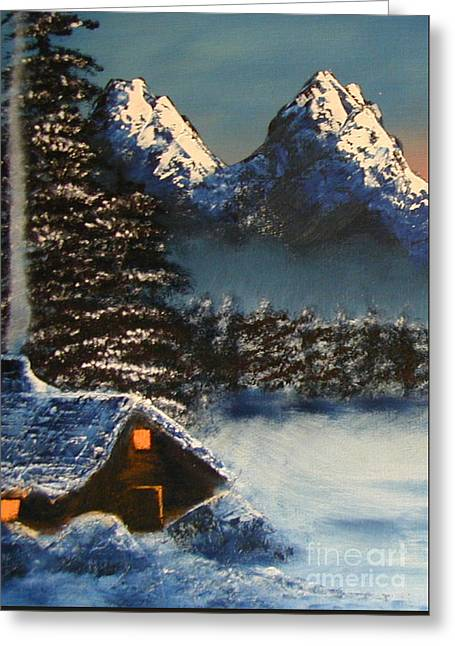 Cozy Mountain Cabin Greeting Card