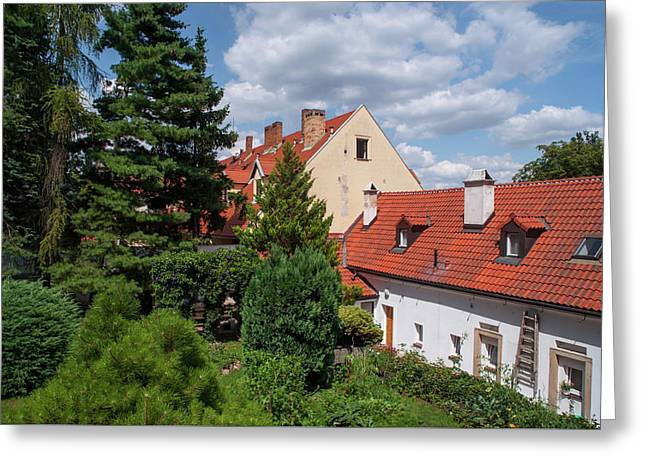 Greeting Card featuring the photograph Cozy Prague by Jenny Rainbow