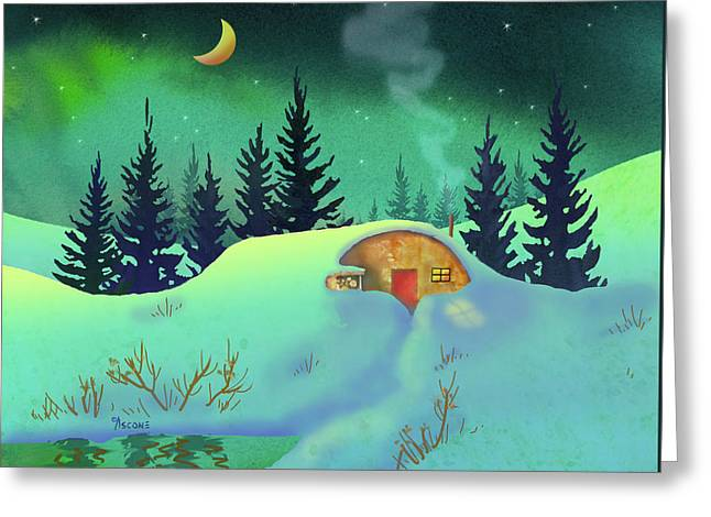 Cozy Quonset Greeting Card