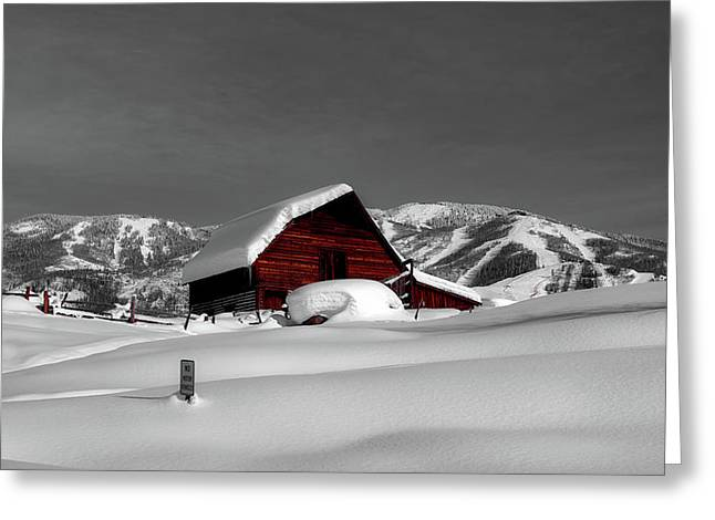Cozy Winter Cabin Greeting Card