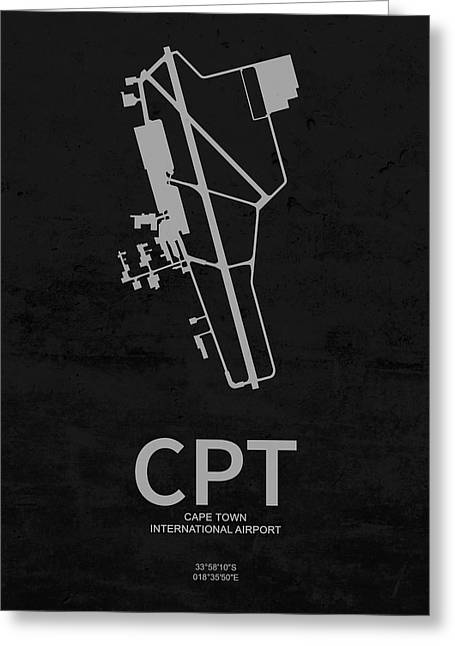 Cpt Cape Town International Airport In Cape Town South Africa Ru Greeting Card