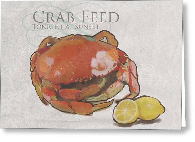 Crab Feed Greeting Card