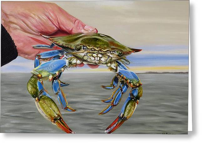 Crab Fingers Greeting Card by Phyllis Beiser