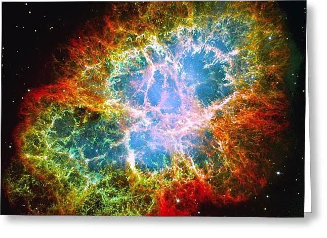 Crab Nebula Greeting Card by Don Hammond