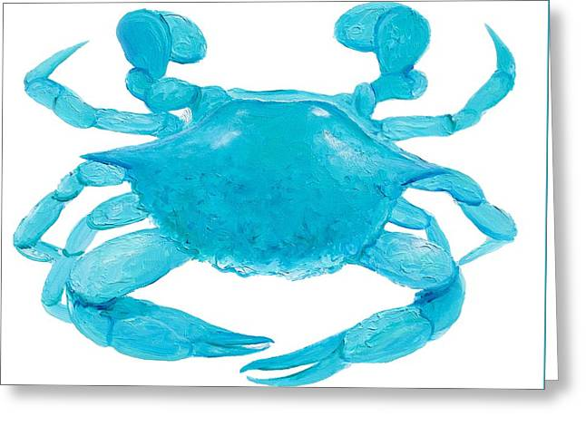 Crab Painting Greeting Card by Jan Matson