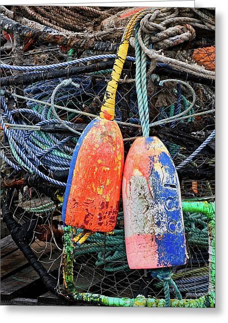 Crab Pots And Buoys Greeting Card