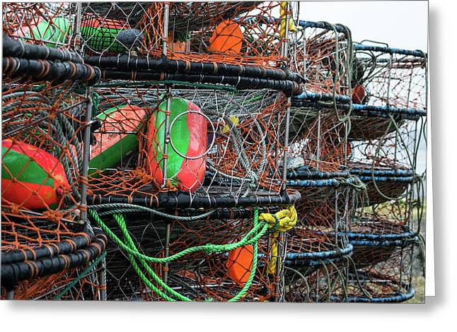 Crab Pots Greeting Card