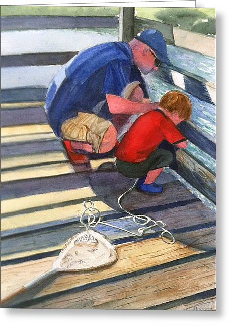 Crabbing Greeting Card