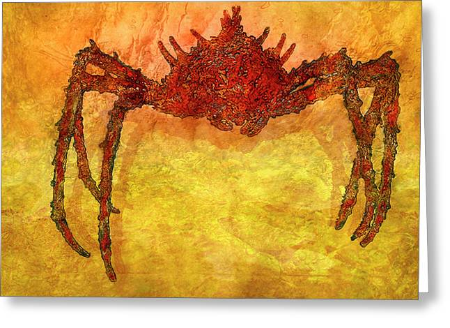 Crabby Greeting Card by Jack Zulli