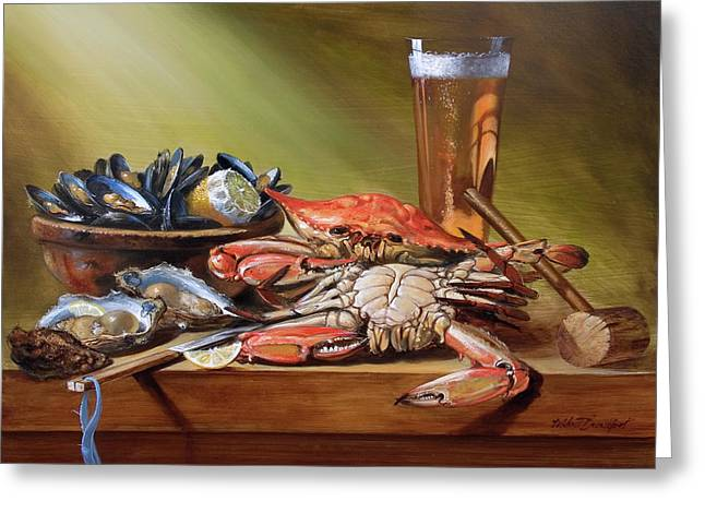 Crabs And Beer Greeting Card
