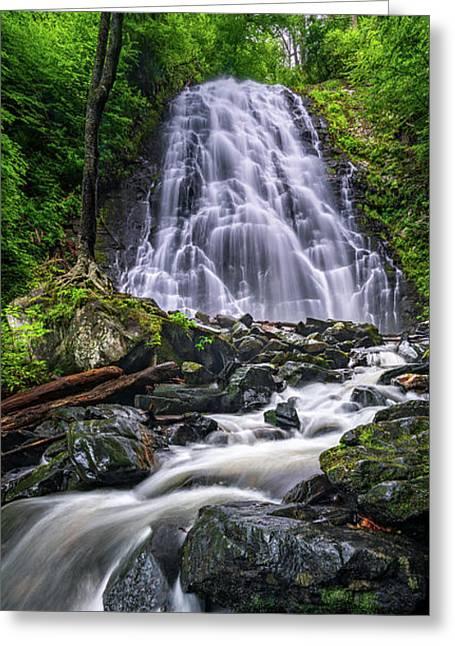 Crabtree Falls North Carolina Greeting Card