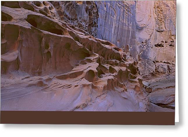 Crack Canyon Blue Wall Greeting Card