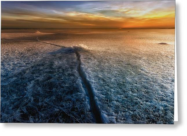 Crack In The World Greeting Card by Piotr Krol (bax)