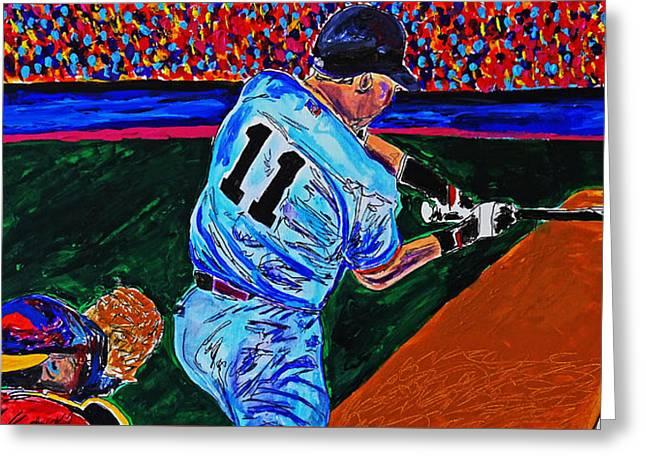 Crack Of The Bat - Abstract Baseball Series Greeting Card
