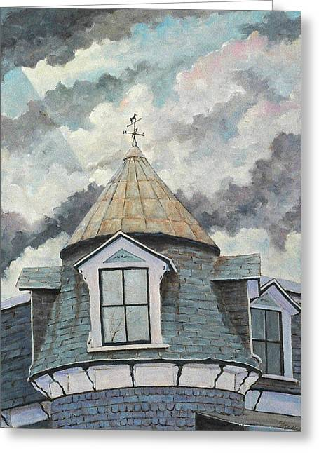 Crack The Sky Greeting Card by Richard T Pranke
