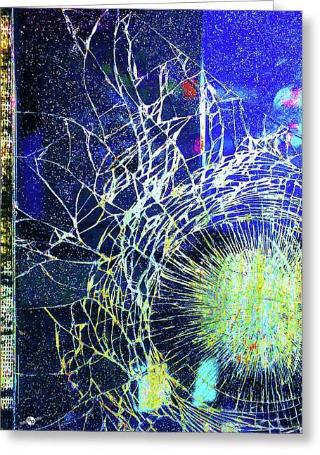 Greeting Card featuring the mixed media Crack by Tony Rubino