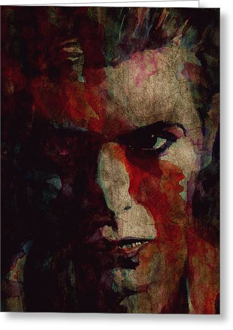 Cracked Actor Greeting Card by Paul Lovering