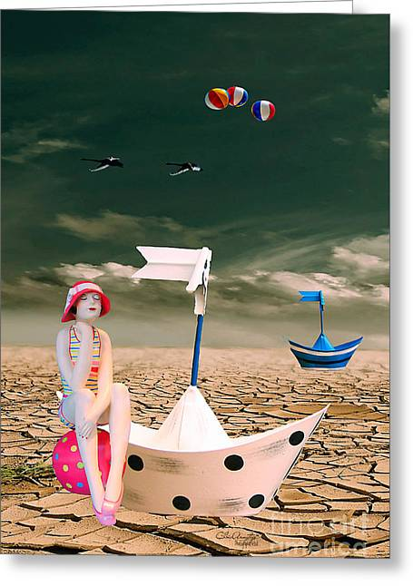 Greeting Card featuring the photograph Cracked II - The Bathing Beauty by Chris Armytage