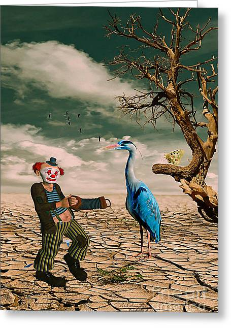 Greeting Card featuring the photograph Cracked IIi - The Clown by Chris Armytage