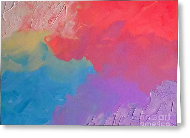 Cracked Pastels Greeting Card by Jilian Cramb - AMothersFineArt