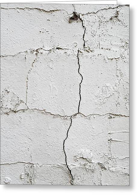 Cracked Wall Greeting Card by Tom Gowanlock