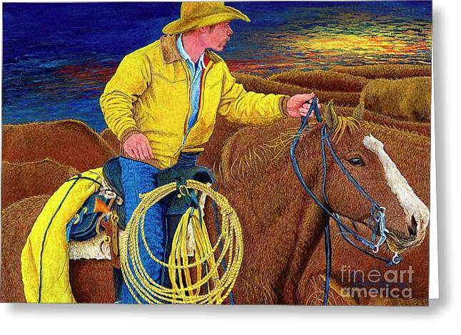 Cracker Cowboy Sunrise Greeting Card