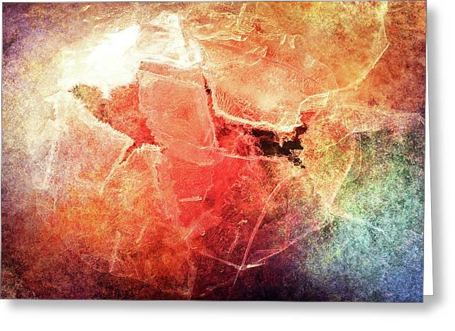 Cracks Of Colors Greeting Card