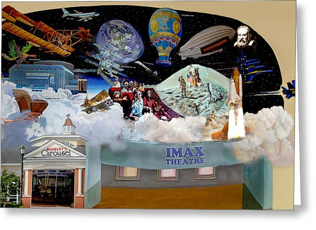 Cradle Of Aviation Museum Imax Theatre Greeting Card by Bonnie Siracusa