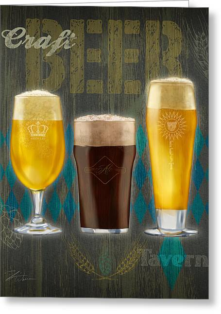 Craft Beer Greeting Card by Shari Warren