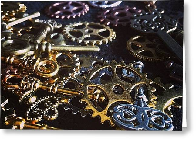 Crafting Steampunk Soon #steampunk Greeting Card by Landlubber ChubbyNinja