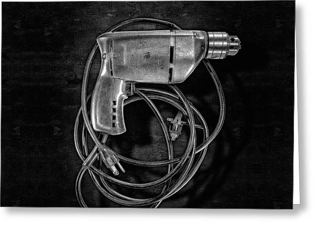 Craftsman Drill Motor Bs Bw Greeting Card by YoPedro