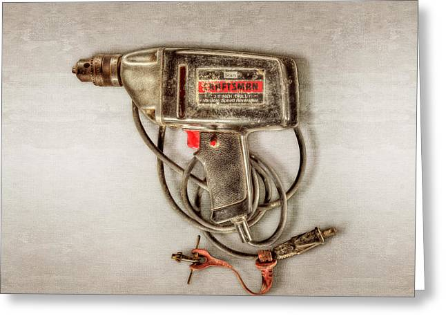 Craftsman Electric Drill Motor Greeting Card