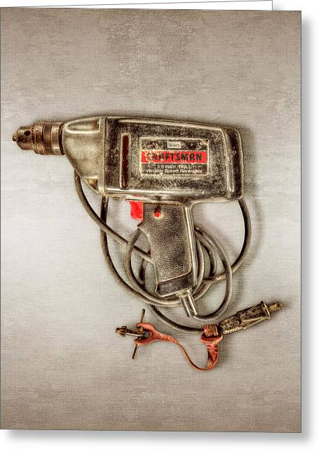 Craftsman Electric Drill Motor Greeting Card by YoPedro