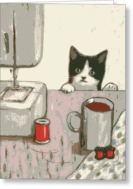 Crafty Cat #2 Greeting Card