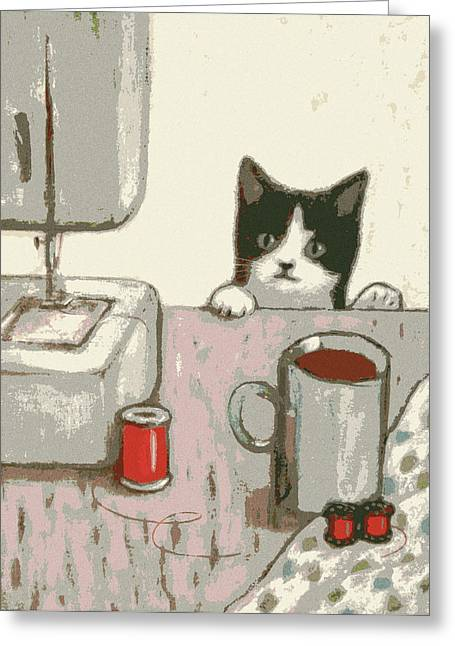Crafty Cat #2 Greeting Card