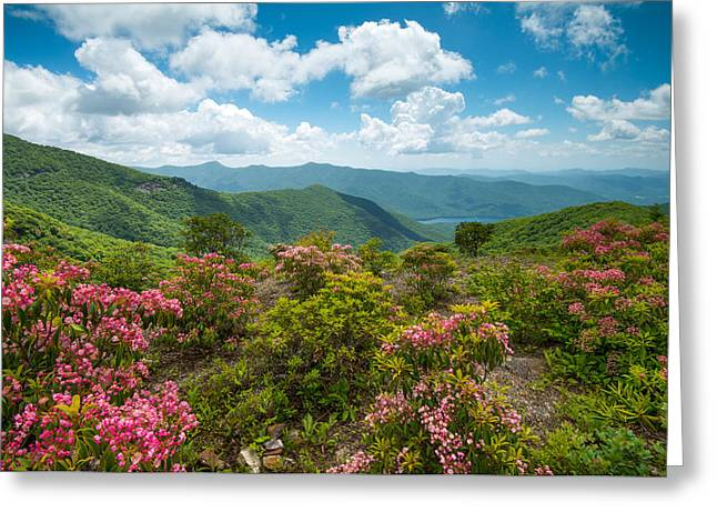 Craggy Gardens Blue Ridge Parkway Stunning Vista Greeting Card