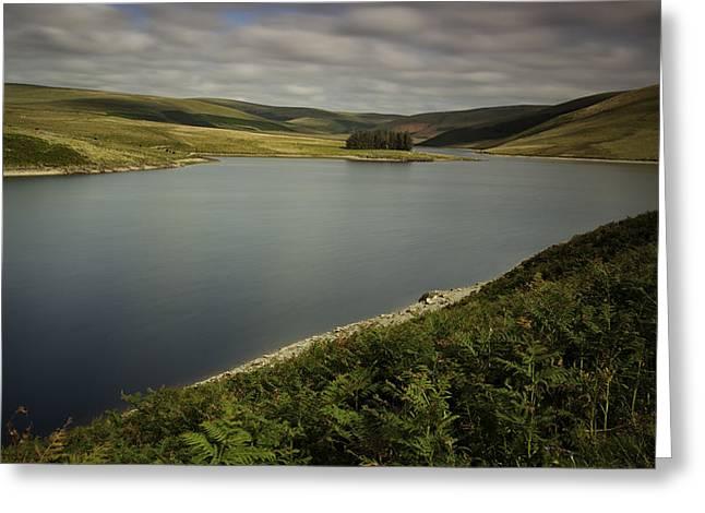 Craig Goch Reservoir Elan Valley Greeting Card