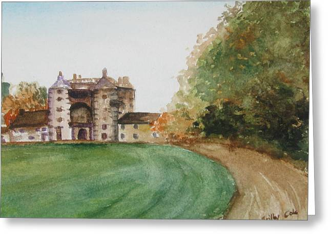 Greeting Card featuring the painting Craigston- Another View by Trilby Cole