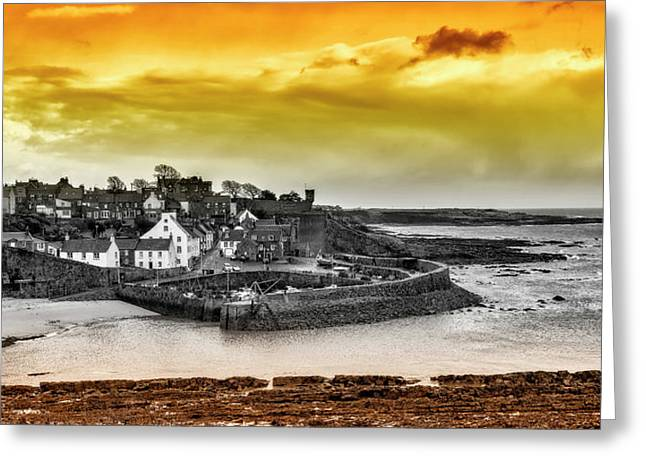 Crail Harbour Greeting Card by Jeremy Lavender Photography