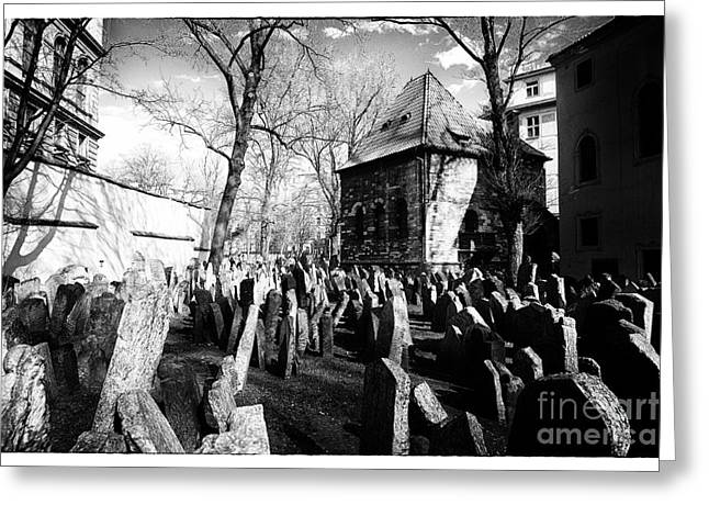 Headstones Greeting Cards - Cramped Greeting Card by John Rizzuto