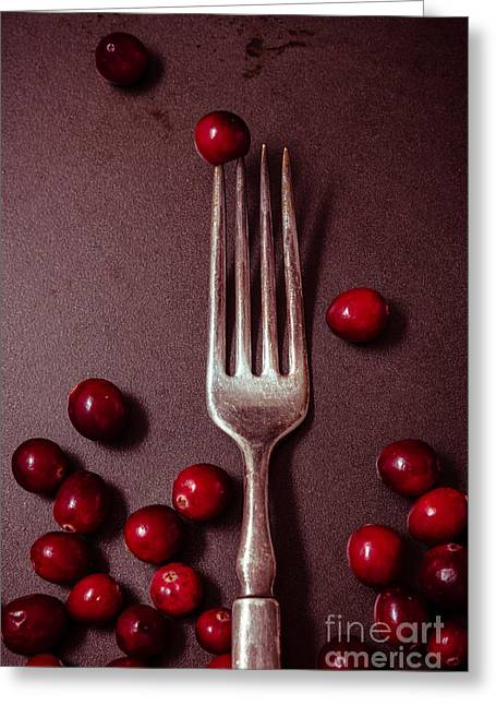 Cranberries And Fork Greeting Card
