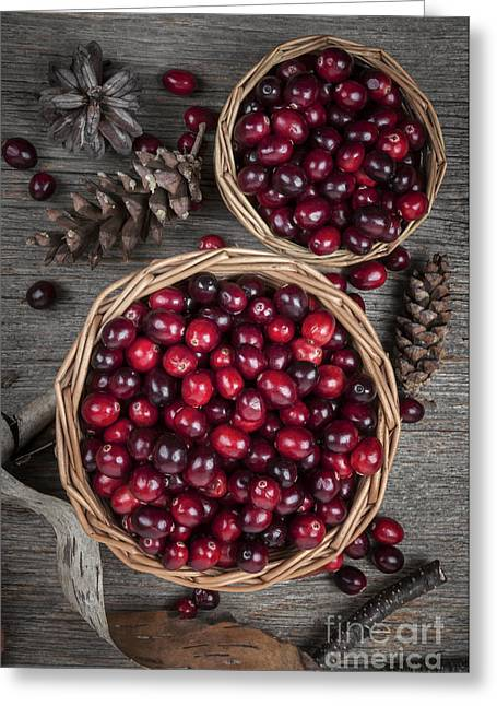Cranberries In Baskets Greeting Card