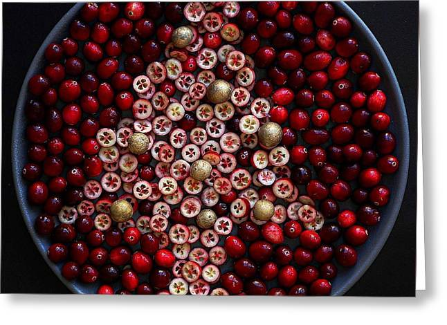 Cranberry Christmas Tree Greeting Card