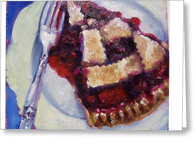 Cranberry Raisen Pie         Greeting Card by Susan Jenkins