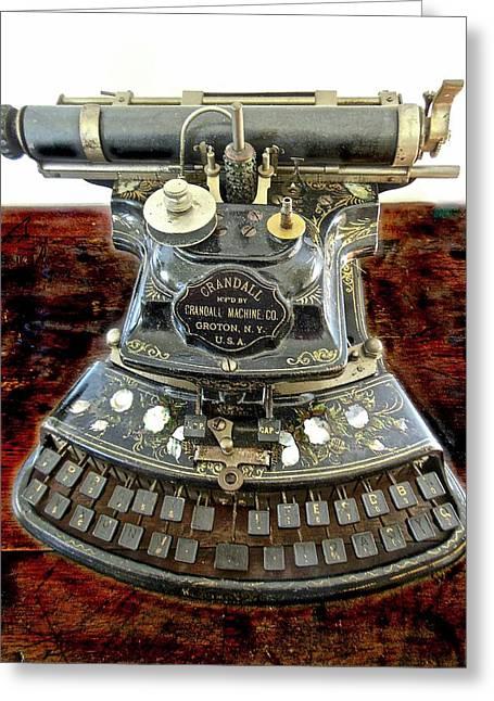 Crandall Type Writer 1893 Greeting Card